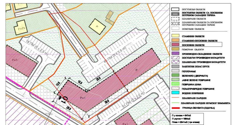 Građevinsko zemljište Rebrovac – predviđen poslovni objekat
