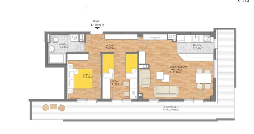 Prodaja -stan od 60 m2, Lauš
